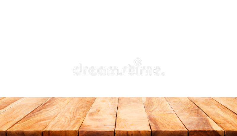 Download Wood Table Top On White Background.For  Product Display Stock Photo - Image of blank, texture: 99377206