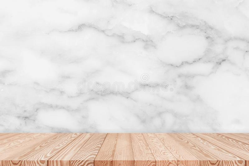White Table Top Texture. Download Wood Table Top On White Marble Texture  Background Stock Photo