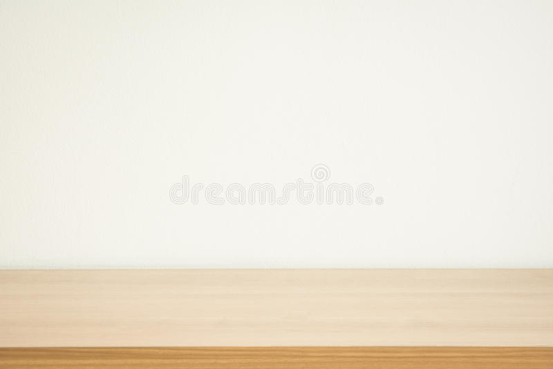 Wood table and wall background royalty free stock images
