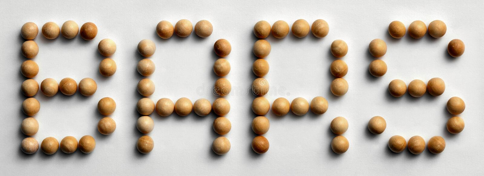 Wood Tack Word Art `Bars`. Photograph of the word `Bars` spelled out with wood push pins stock photos