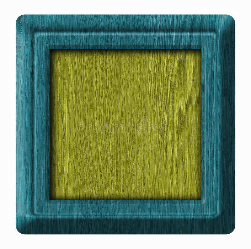 Wood tag. Wooden frame isolated on white background stock illustration
