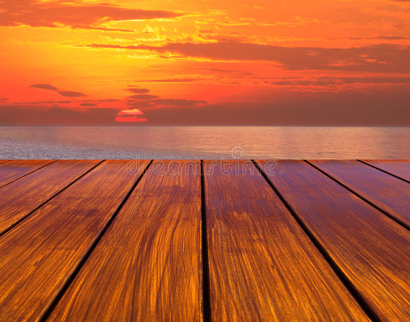 Download Wood Terrace Perspective And Sun Set Stock Photo - Image: 25909070