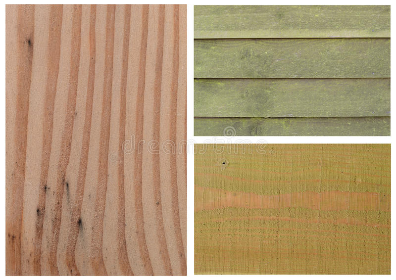 Wood texture. Three wood textures background in one picture royalty free stock photography