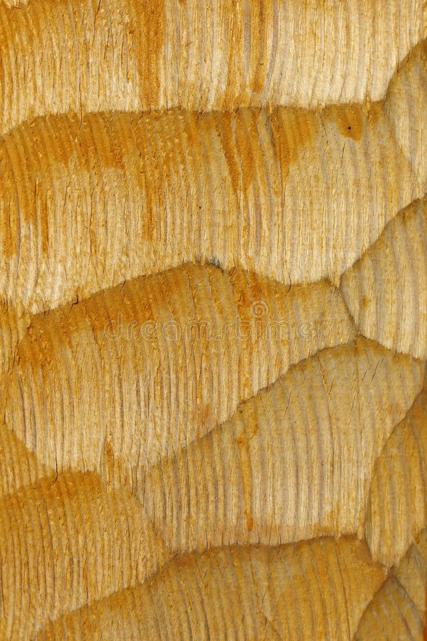 Wood texture. Wave patterned yellow wood texture royalty free stock image