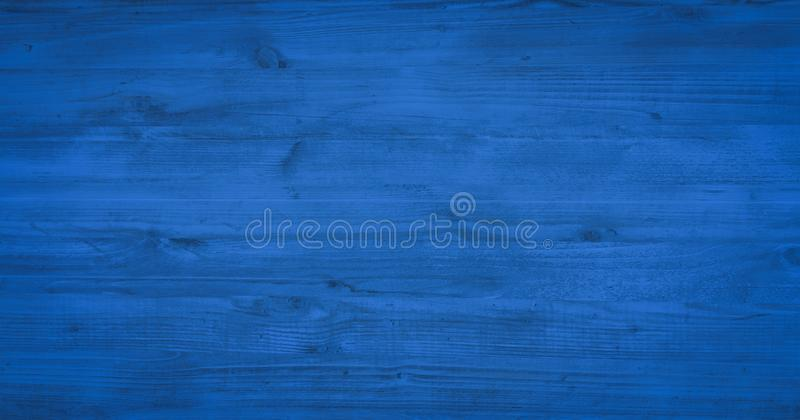 Wood texture background, blue wooden planks. Grunge washed wood table pattern top view. royalty free stock photo