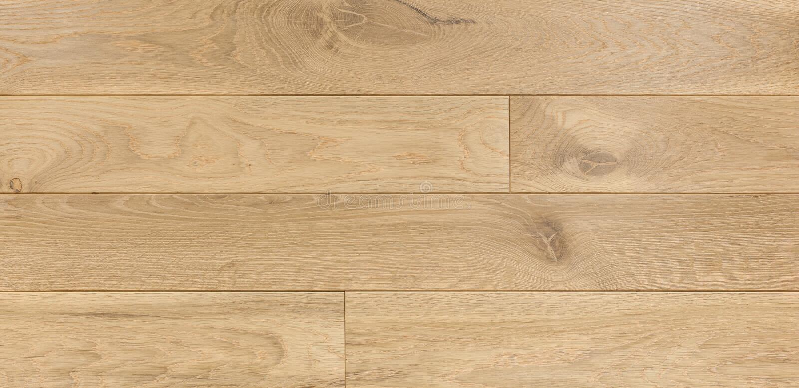 Wood texture background for design, oak toned beige board . stock photo
