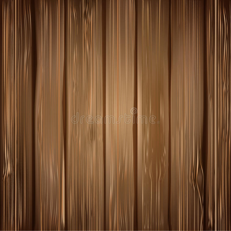 Wood texture background. Realistic illustration of dark wood plank royalty free illustration