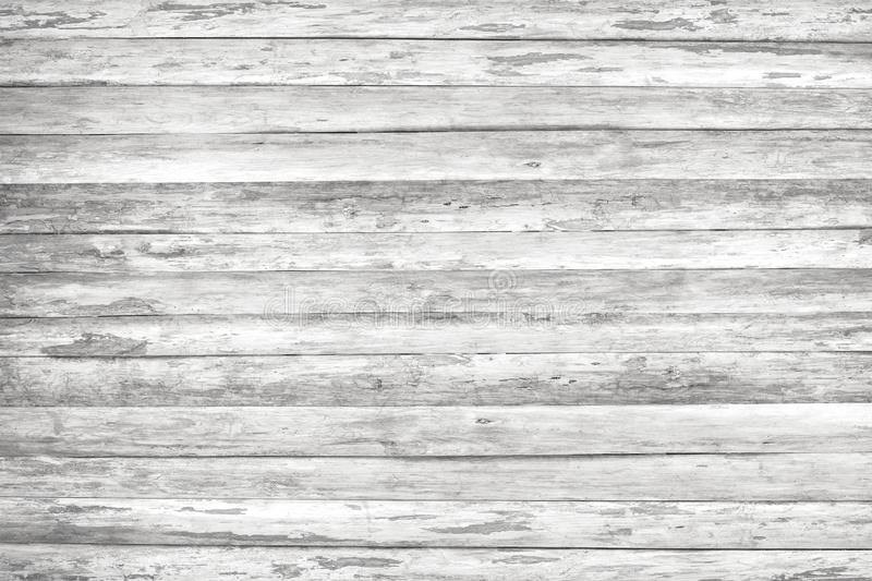 Wood texture background, white wood planks. Grunge washed wooden wall pattern royalty free stock photography