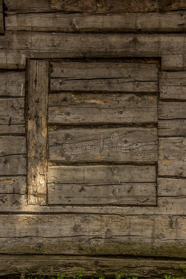 Wood Texture Background, Wooden Board Grains, Old Floor Striped Planks Wooden house wall boards Texture. Old wooden enclosed window with walls texture stock image