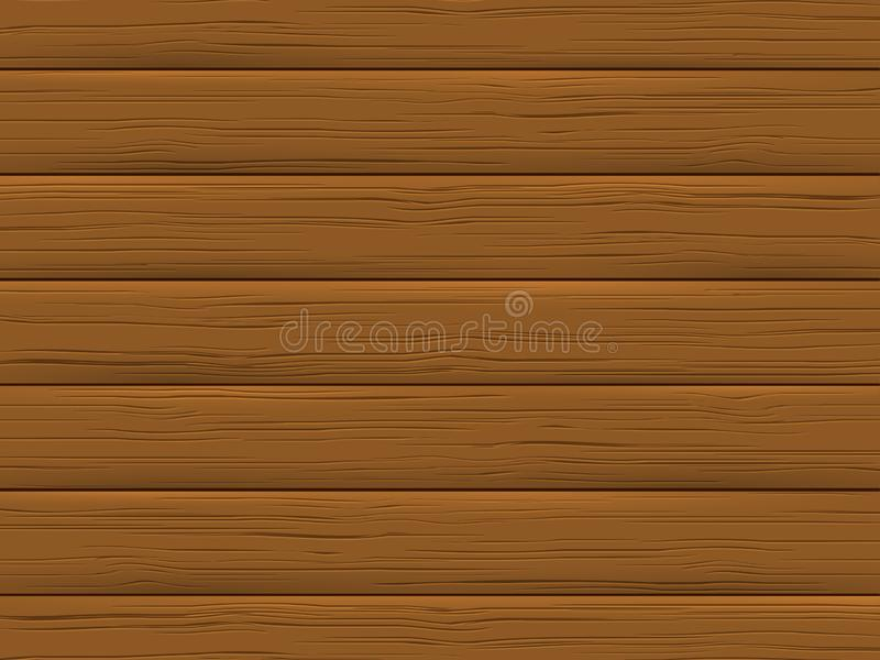 Wood texture, brown plank. Wooden background. stock illustration