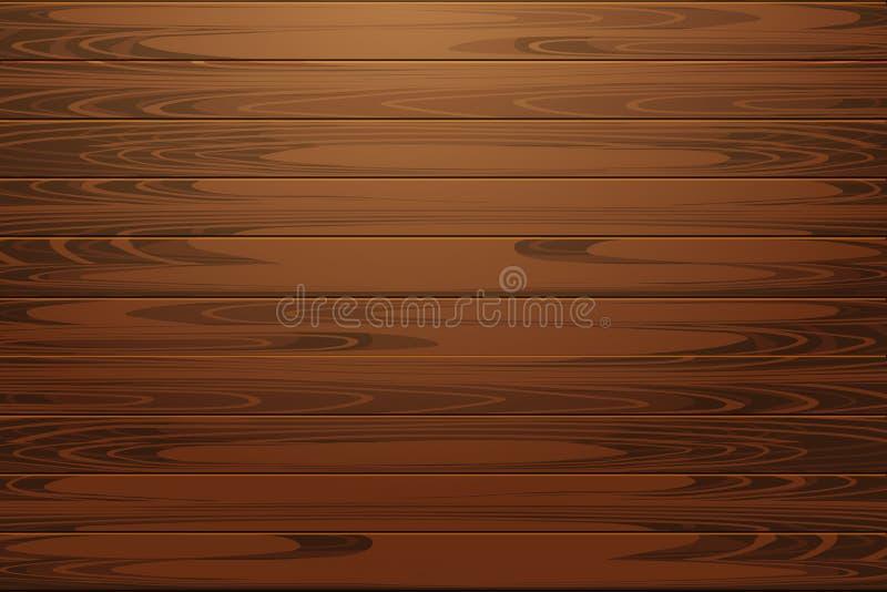 Wood texture illustration. Natural Dark Wooden Background. Wood texture, vector Eps10 illustration. Natural Dark Wooden Background stock illustration