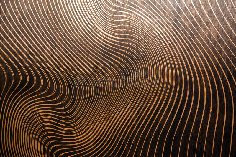 Wood texture with lasered pattern. royalty free stock image