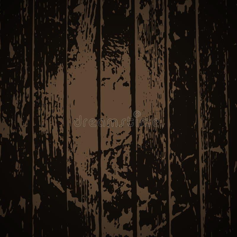 Wood texture. Natural Dark Wooden Background. EPS10 royalty free illustration