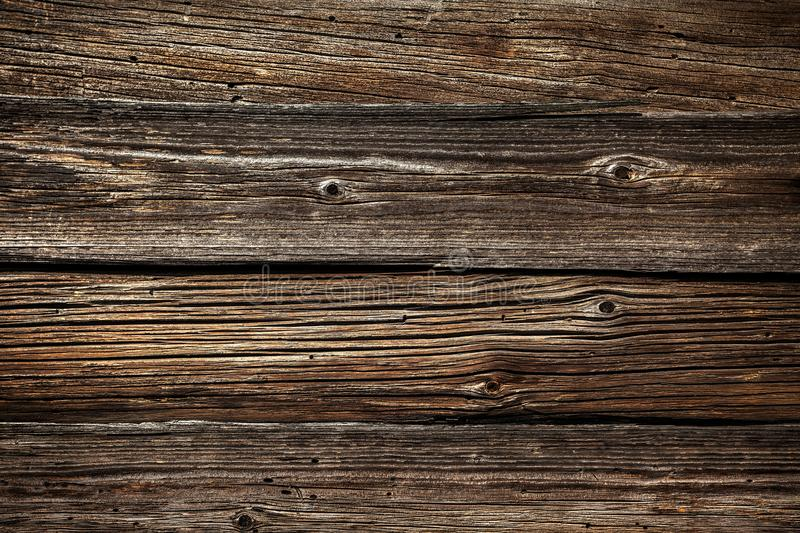 Wood texture with natural pattern. Pine. Old, the color is brown royalty free stock photography