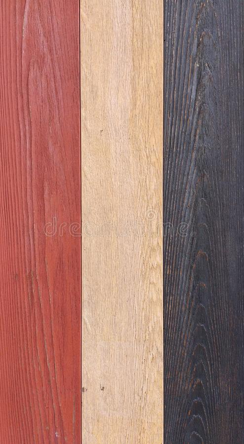 Wood Texture, Red, White, and Blue Wooden Background, Colorful Timber Plank Wall royalty free stock photos