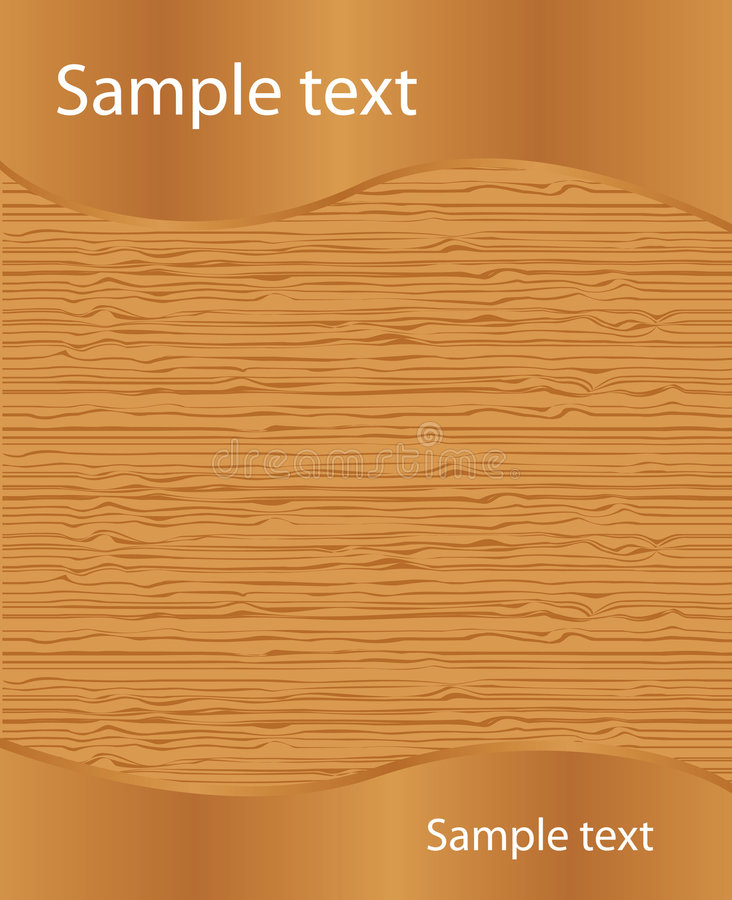 Wood texture with sample text stock illustration