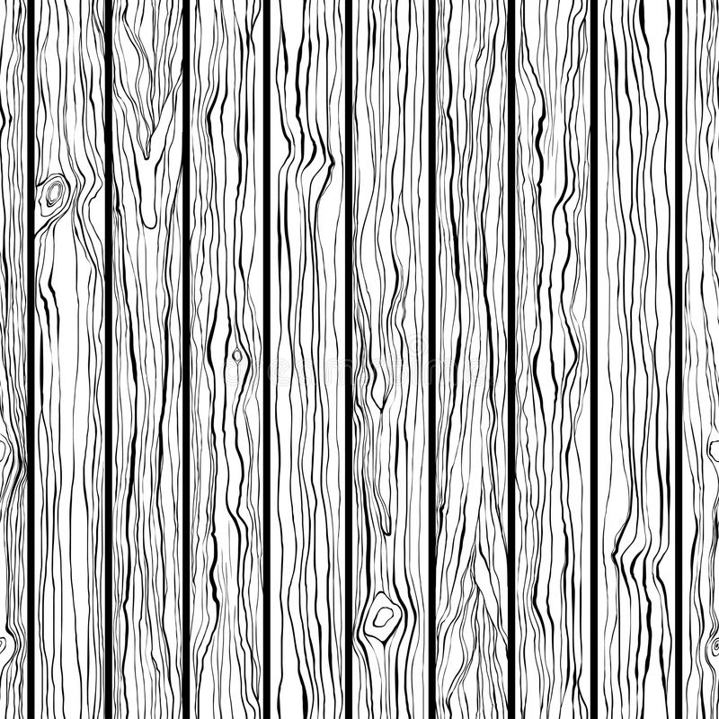 Wood Texture Seamless Pattern Black And White Hand Draw