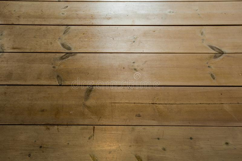 Wood Texture, Wooden Plank Grain Background, Desk in Perspective Close Up, Striped Timber, Old Table or Floor Board stock images