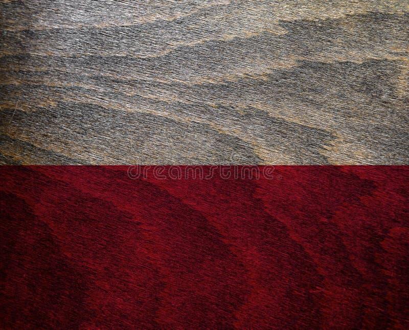 Wood Textured Flag - Poland. High resolution wood textured flag of Poland royalty free stock photography