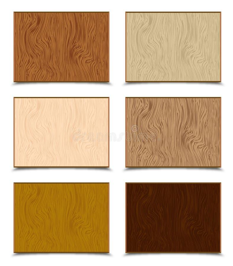 Wood Textures Set vector illustration