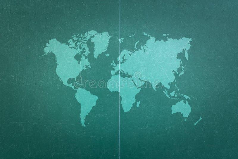 Wood texturyttersida för bordtennis med världskartan royaltyfri foto