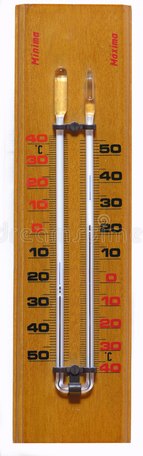 Wood thermometer stock images