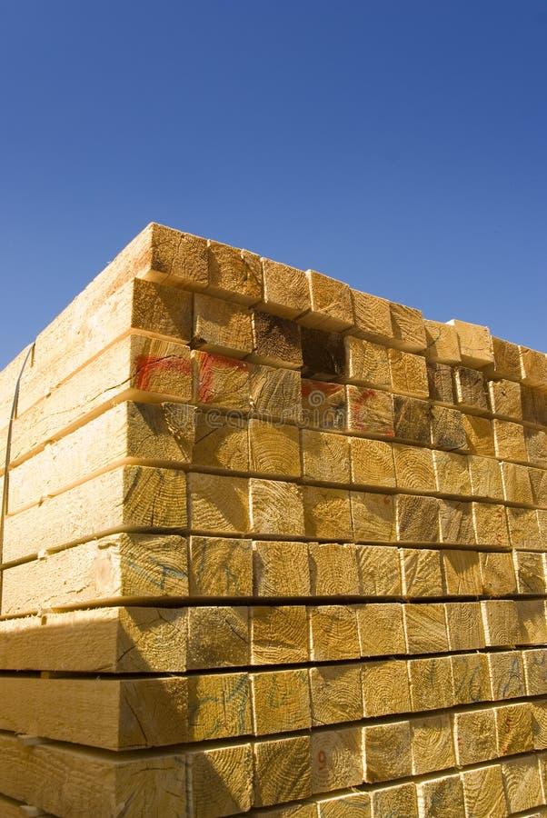 Wood timber lumber stacked royalty free stock photos