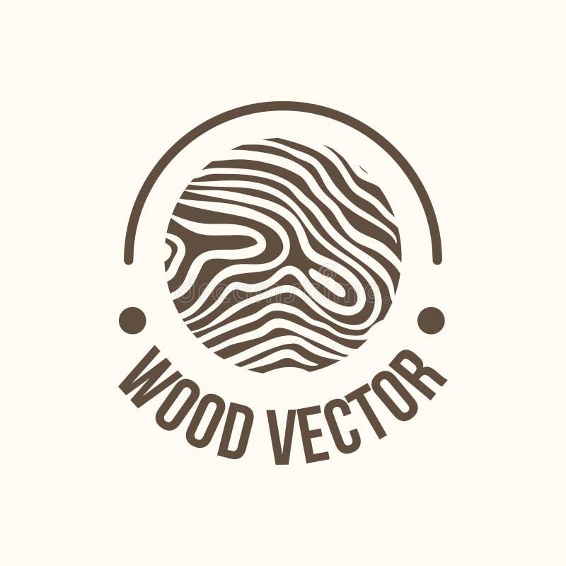 Wood and timber texture symbol. Logo illustration stock illustration