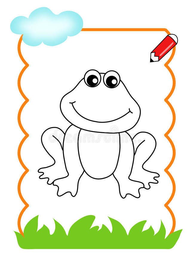 wood to be color, frog stock illustration