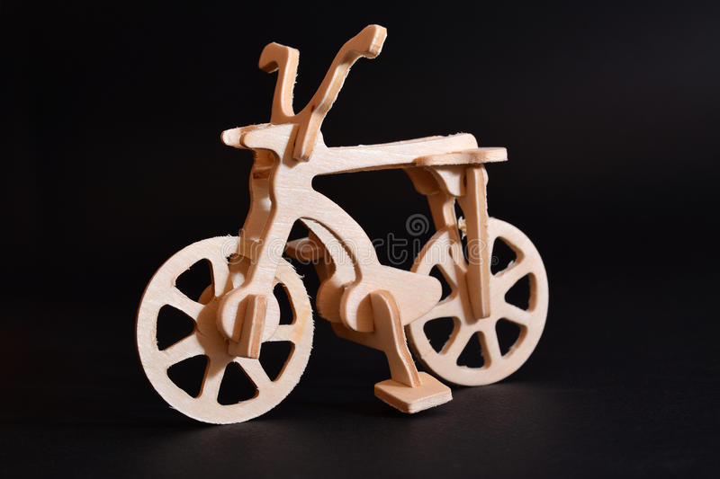 Download Wood toy bicycle stock image. Image of isolated, souvenir - 35729155