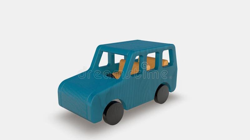 Wood toy car vector illustration