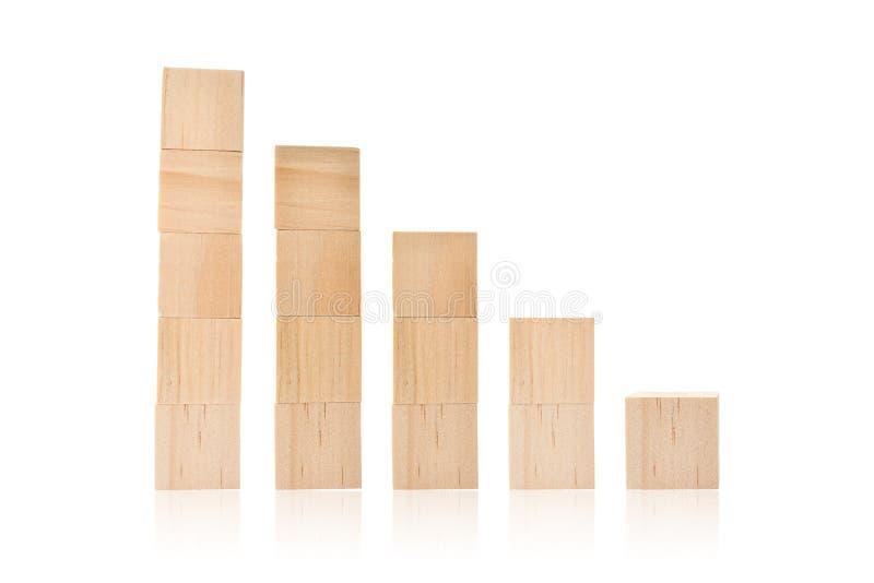 Wood toy cubes isolated on white. Background royalty free stock photo