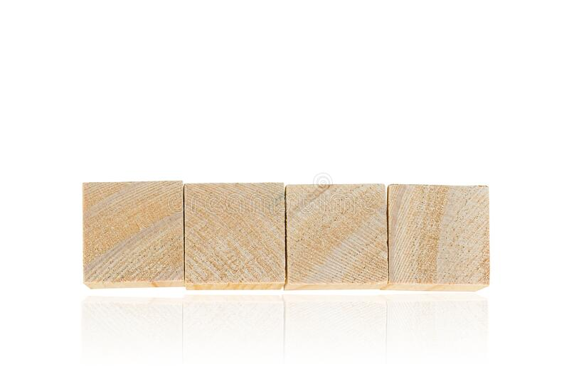 Wood toy cubes isolated on white. Background royalty free stock images