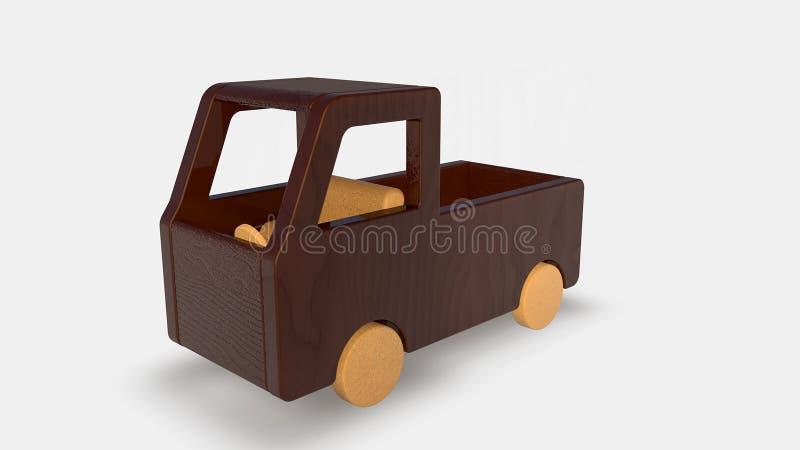 Wood toy truck vector illustration