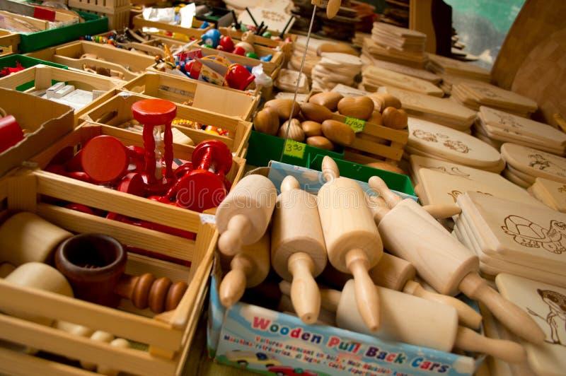 Wood toys stock image