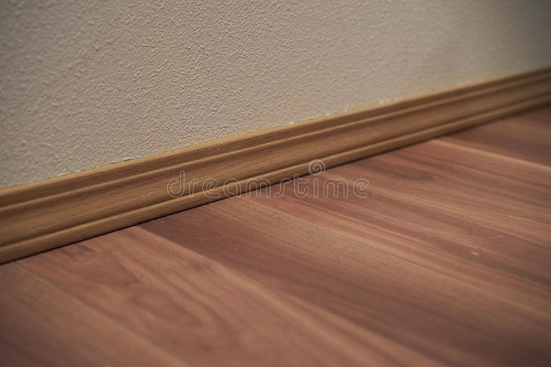 Wood Trim and Wood Flooring stock image
