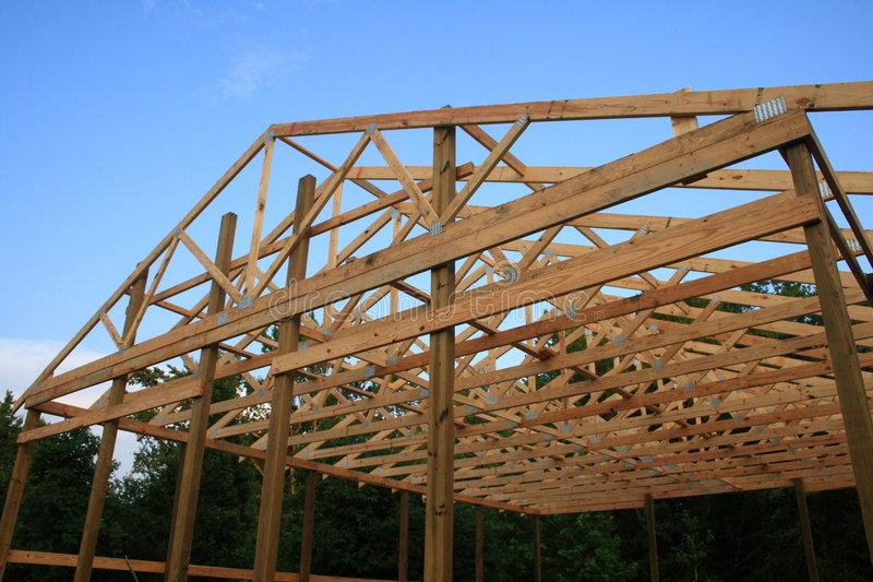 Wood Trusses Stock Photo Image Of Rafters Storage House