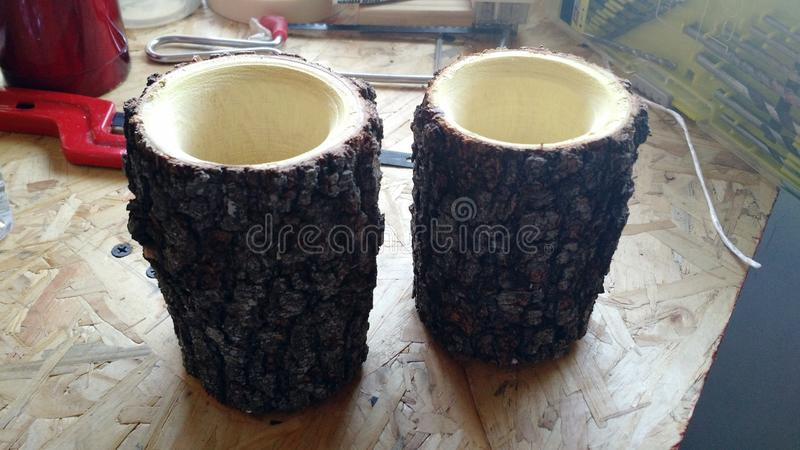Wood turning mate`s royalty free stock photography