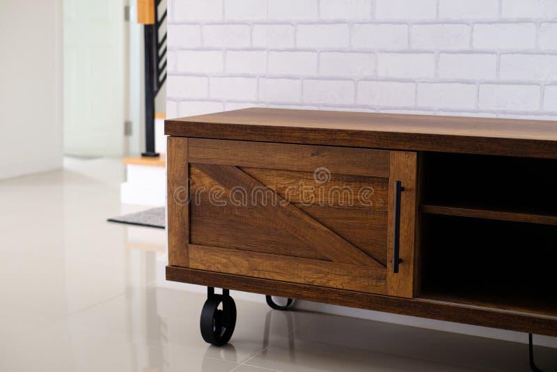wood tvställning royaltyfria bilder