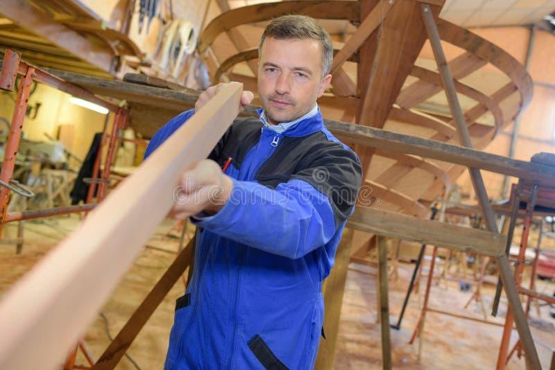 Wood use to build ship royalty free stock photos