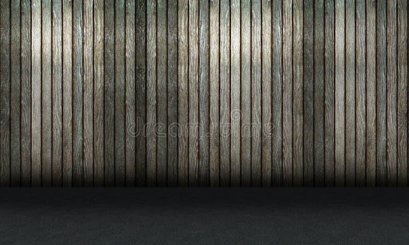 Wood vägg- och betonggolv fotografering för bildbyråer