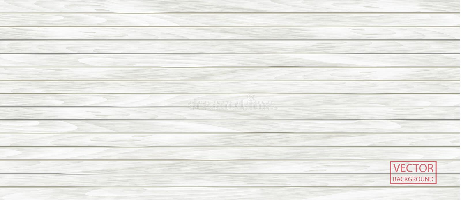 Wood vector white banner in vintage style. Grunge pattern texture background royalty free illustration