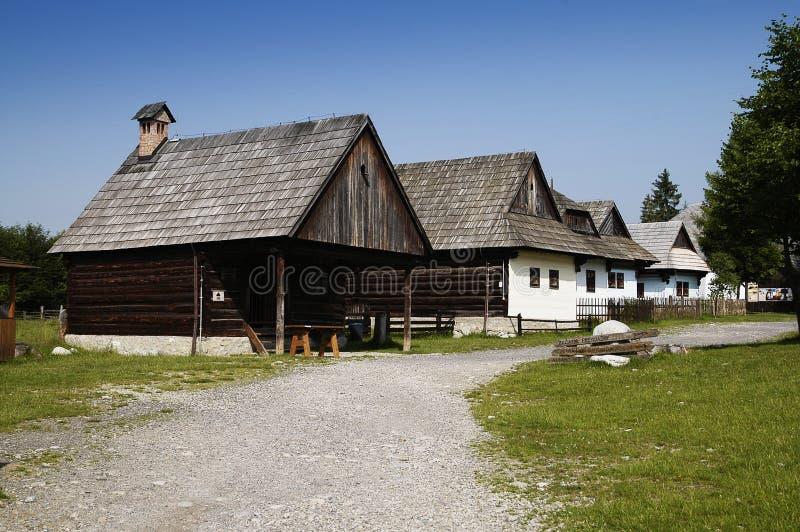 Wood village stock photo