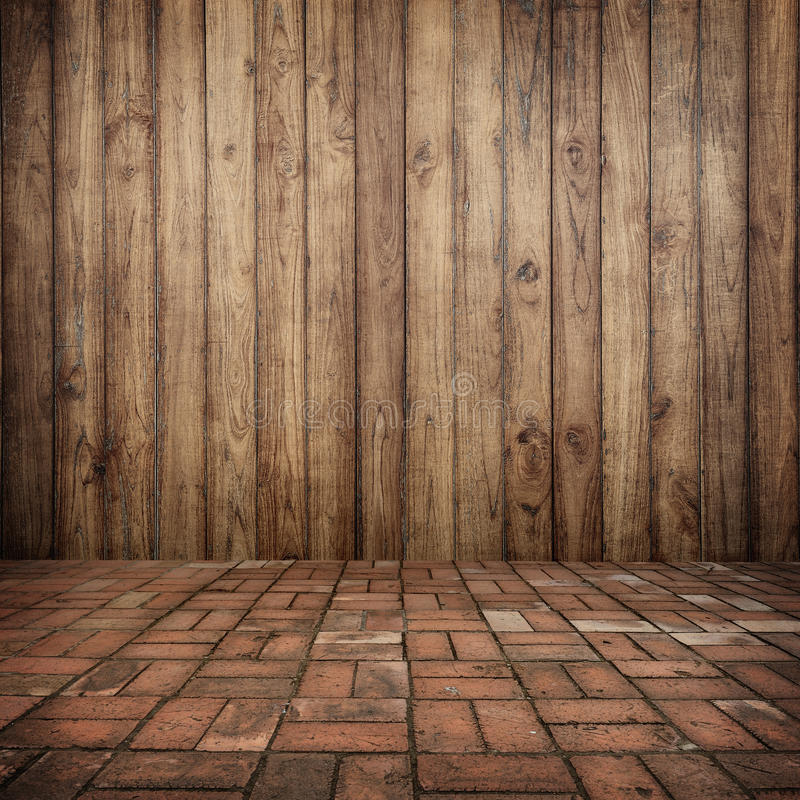 Wood On Wall And Brick Floor For Your Home And For