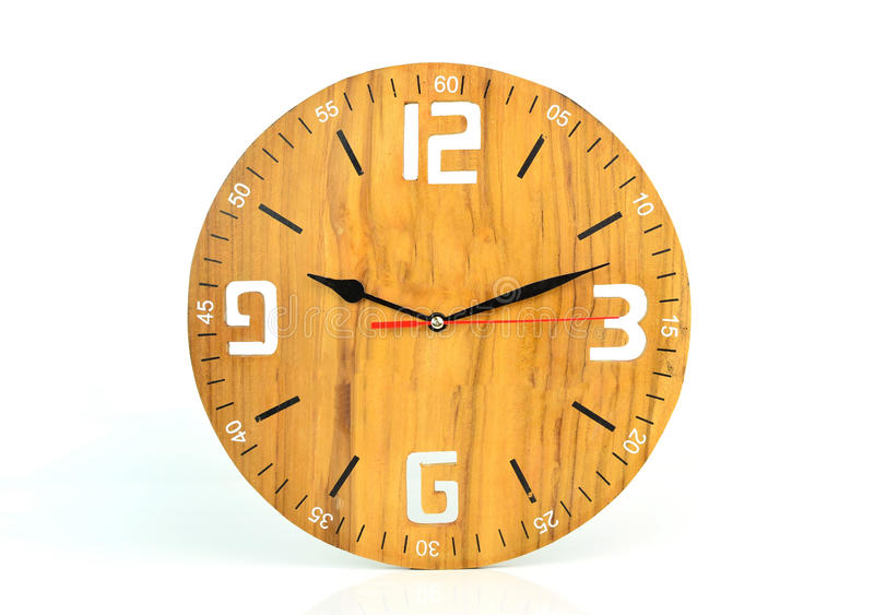 download wood wall clock face isolated on white background stock photo image