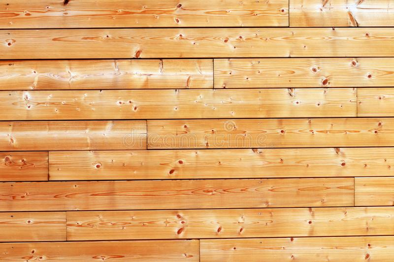 Wood wall of natural pine boards outdoor background texture royalty free stock photo