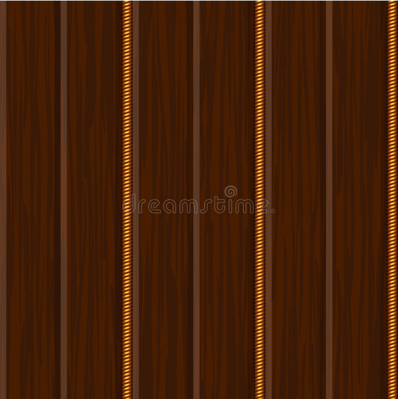 Download Wood Wall Panel Texture With Gold Stock Vector - Image: 23388083