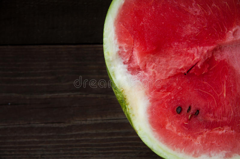 Wood with the watermelon royalty free stock image
