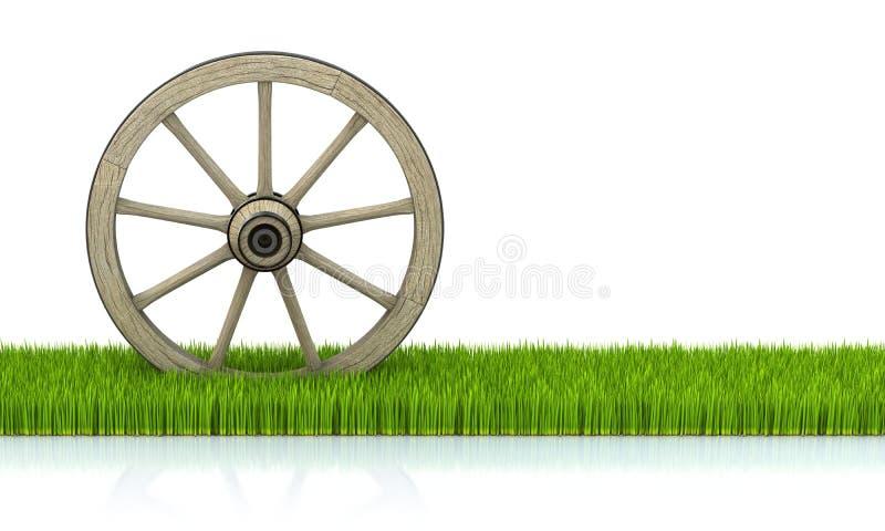 Download Wood wheel stock illustration. Illustration of aged, rustic - 22443792