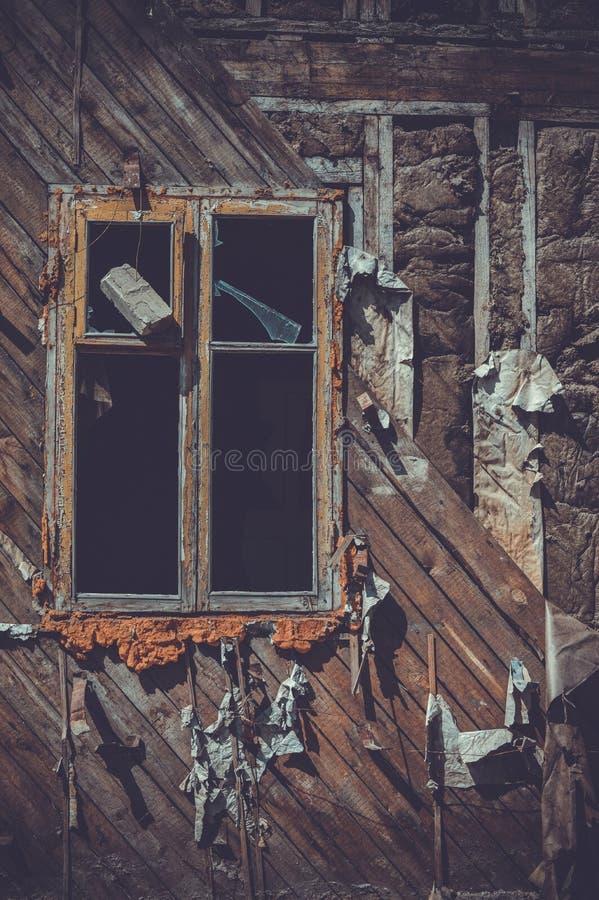 Wood, Window stock image